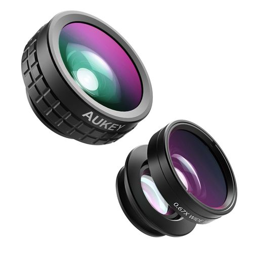 Aukey PL-A1 Clip-On Lens Set with Fisheye / Wide Angle / Macro Lens