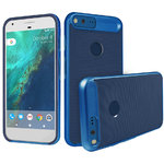 Orzly AirFrame Hybrid Bumper Case for Google Pixel XL Phone - Blue