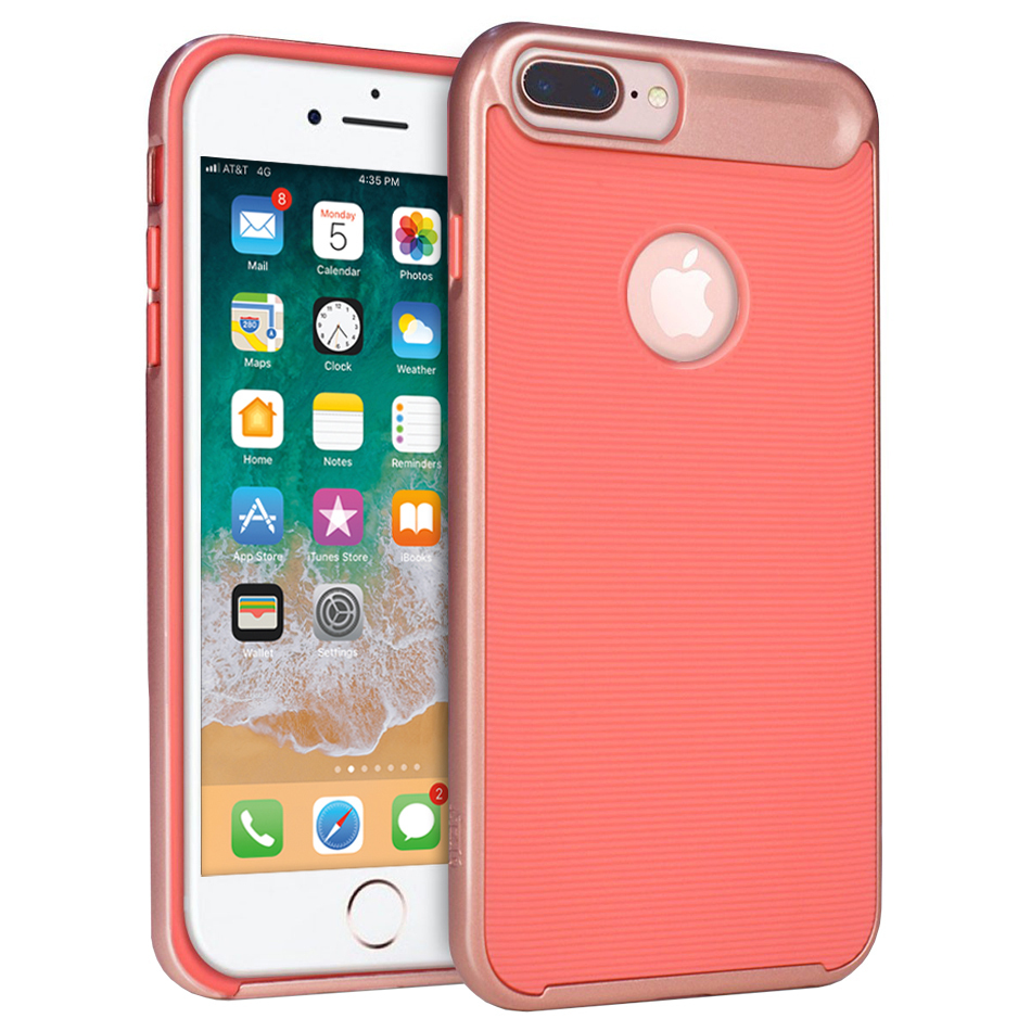 Orzly Airframe Bumper Case Iphone 8 Plus 7 Plus Pink