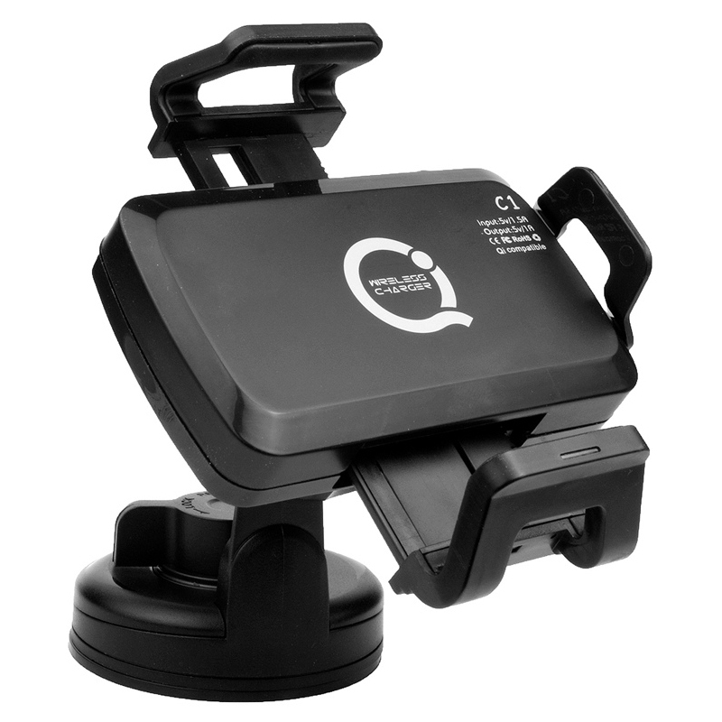 qi wireless charging car mount holder 5v 1 5a. Black Bedroom Furniture Sets. Home Design Ideas