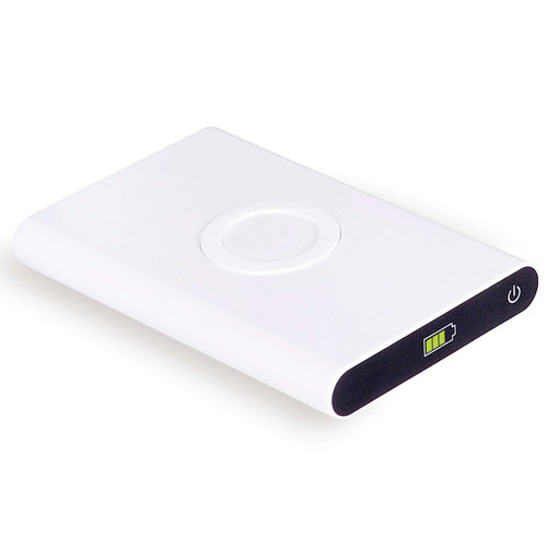 7000mAh Portable Qi Wireless Charger USB Power Bank for Phones - White