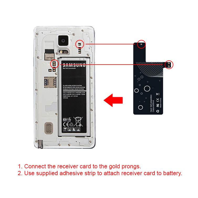 Qi Wireless Charging Receiver Card Samsung Galaxy Note 4