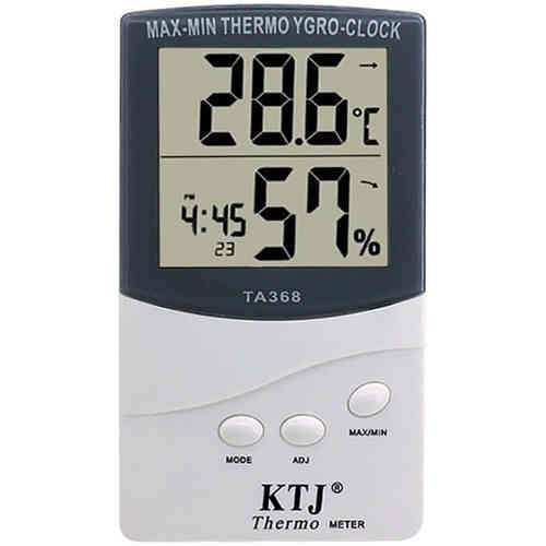 Digital LCD Temperature & Humidity Hygrometer / Thermometer / Clock