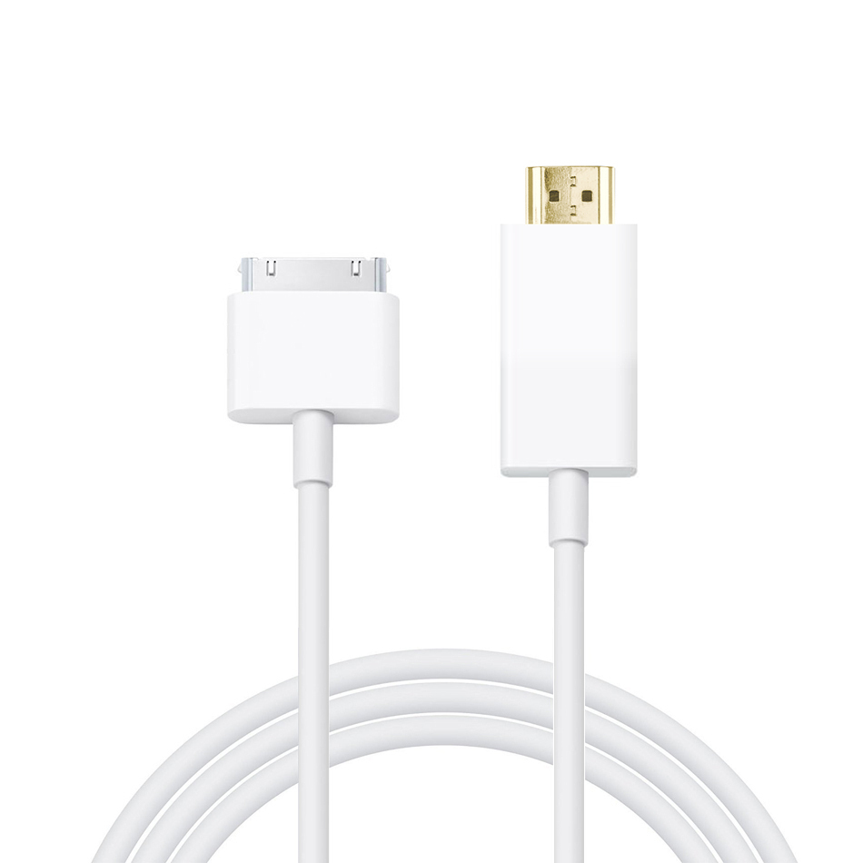 iphone to hdmi. 1.8m 30-pin to hdmi av video adapter tv cable for apple ipad / iphone hdmi