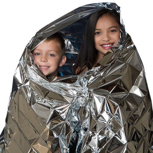 Emergency Outdoor Survival Mylar Thermal Blanket (2-Pack) - Silver