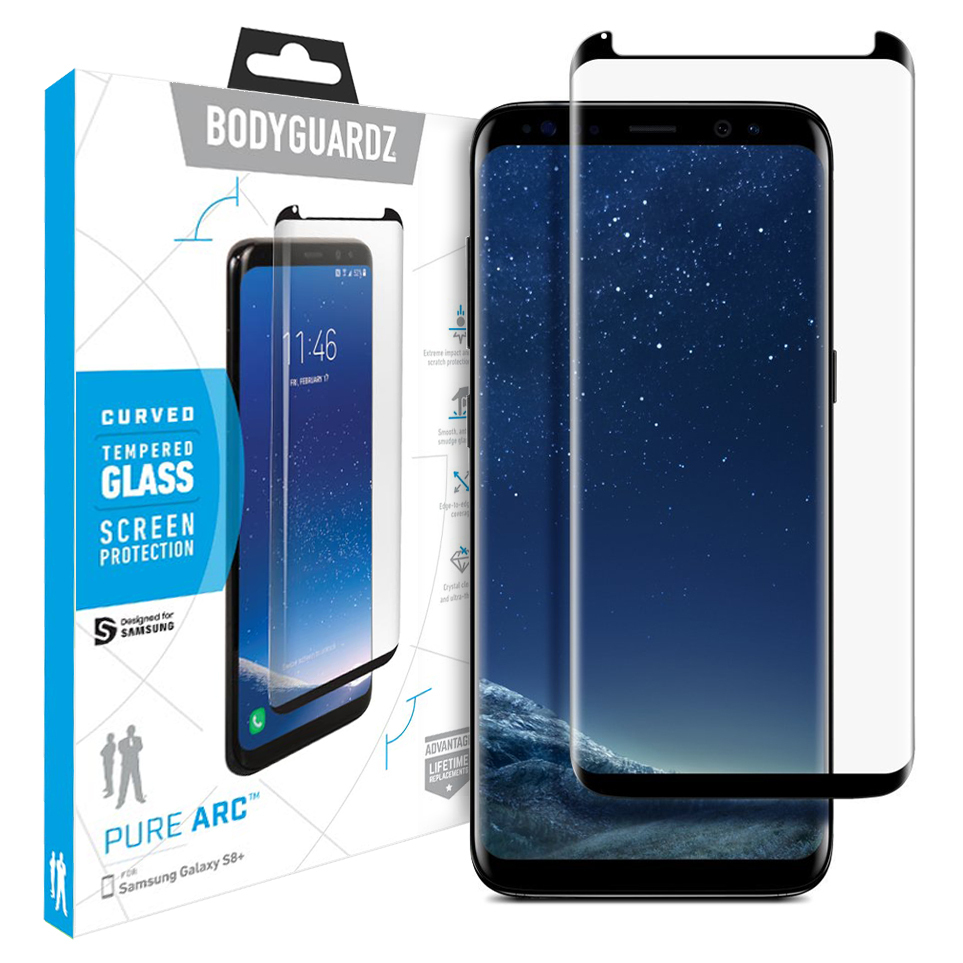 same bodyguardz arc glass samsung galaxy s8 plus screen protector direct
