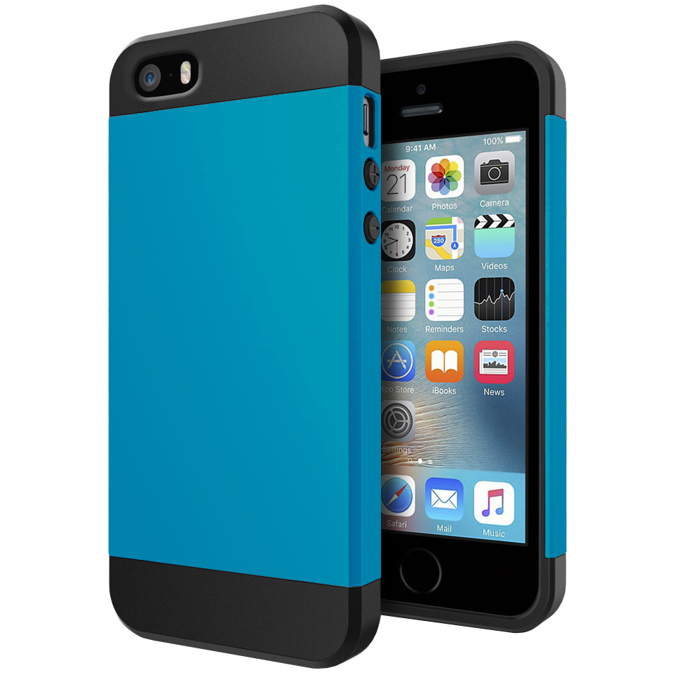 Slim Armour Shockproof Case - Apple iPhone SE / 5s (Blue)