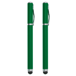 2-in-1 Capacitive Touch Screen Stylus & Ink Pen (2-Pack) - Green
