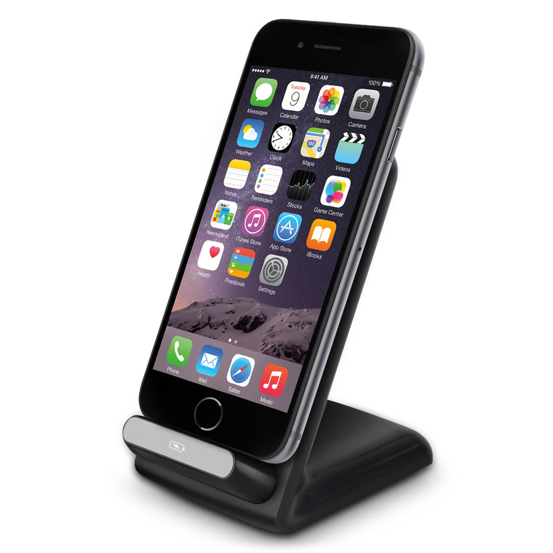qi wireless charging stand apple iphone 6s 5s se. Black Bedroom Furniture Sets. Home Design Ideas