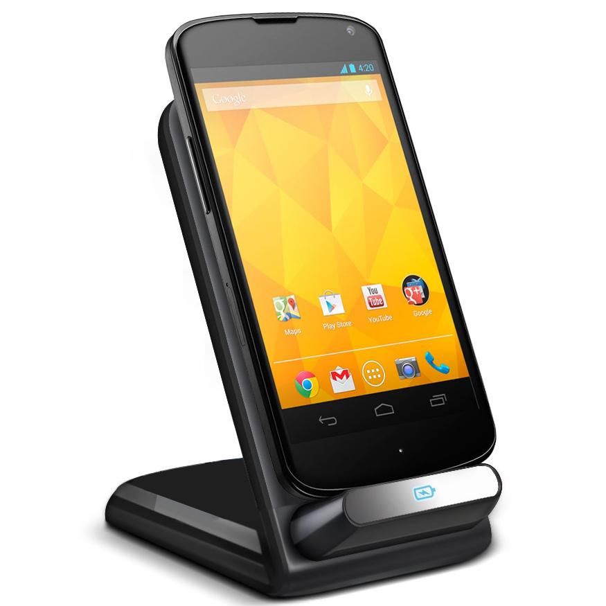 lg nexus 4. qi wireless charger dock \u0026 stand (3-coils) for lg google nexus 4 lg