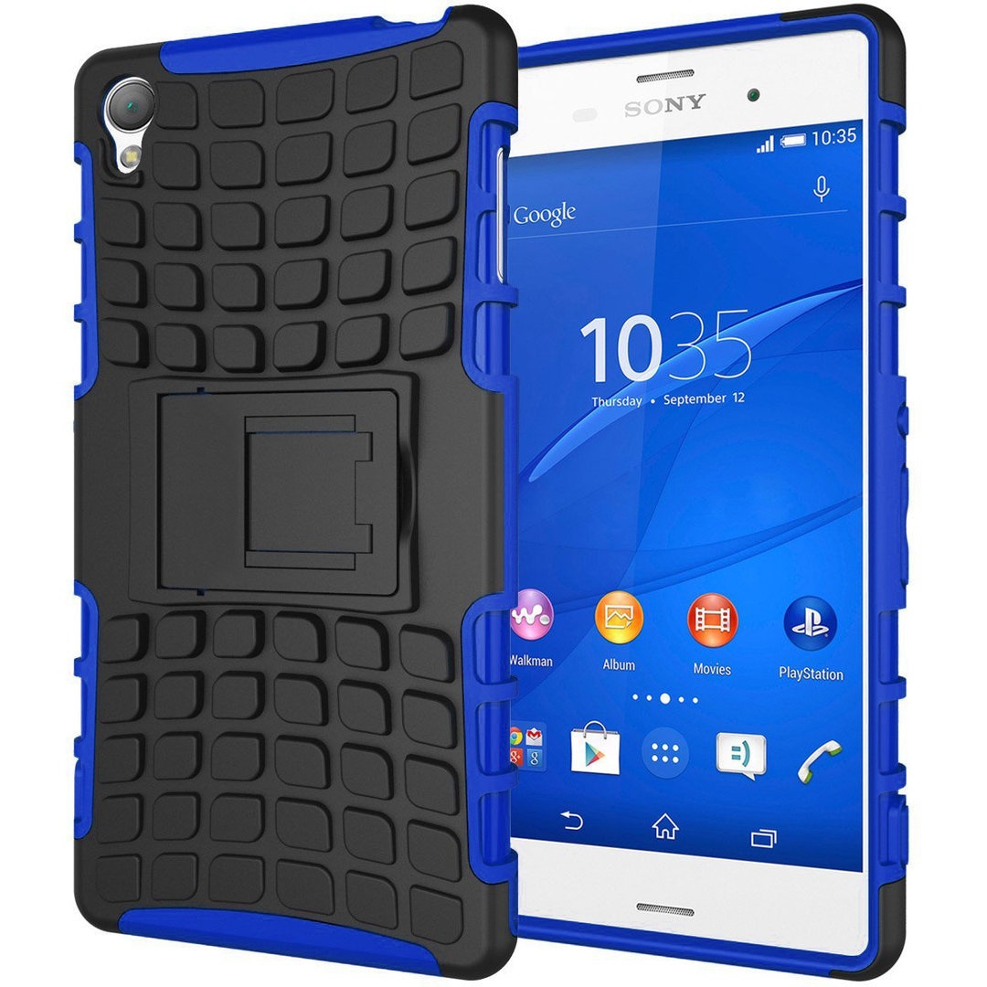 Rugged Tough Shockproof Case Sony Xperia Z3 Blue
