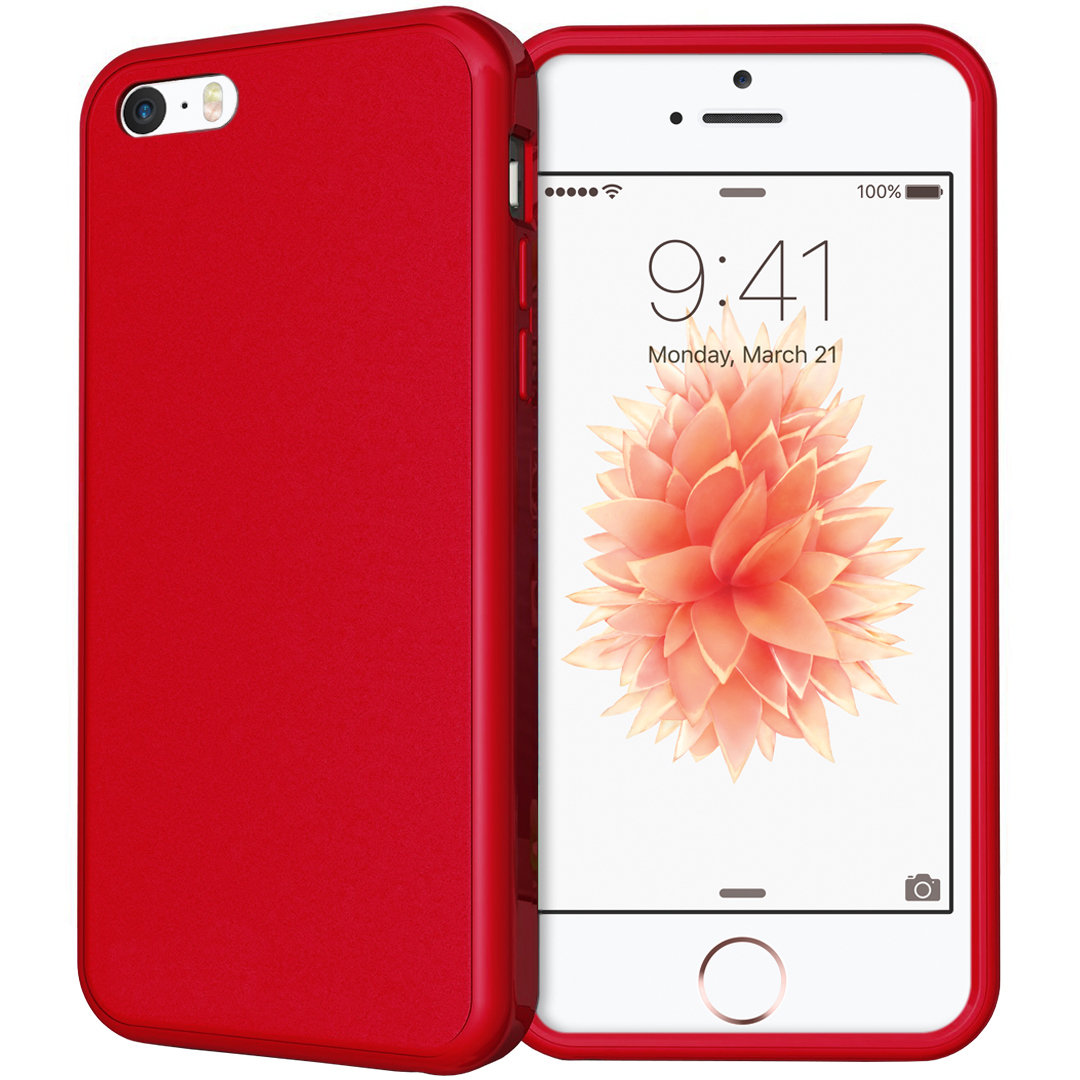 Flexi Gel Case For Apple Iphone Se 5s 5c Red