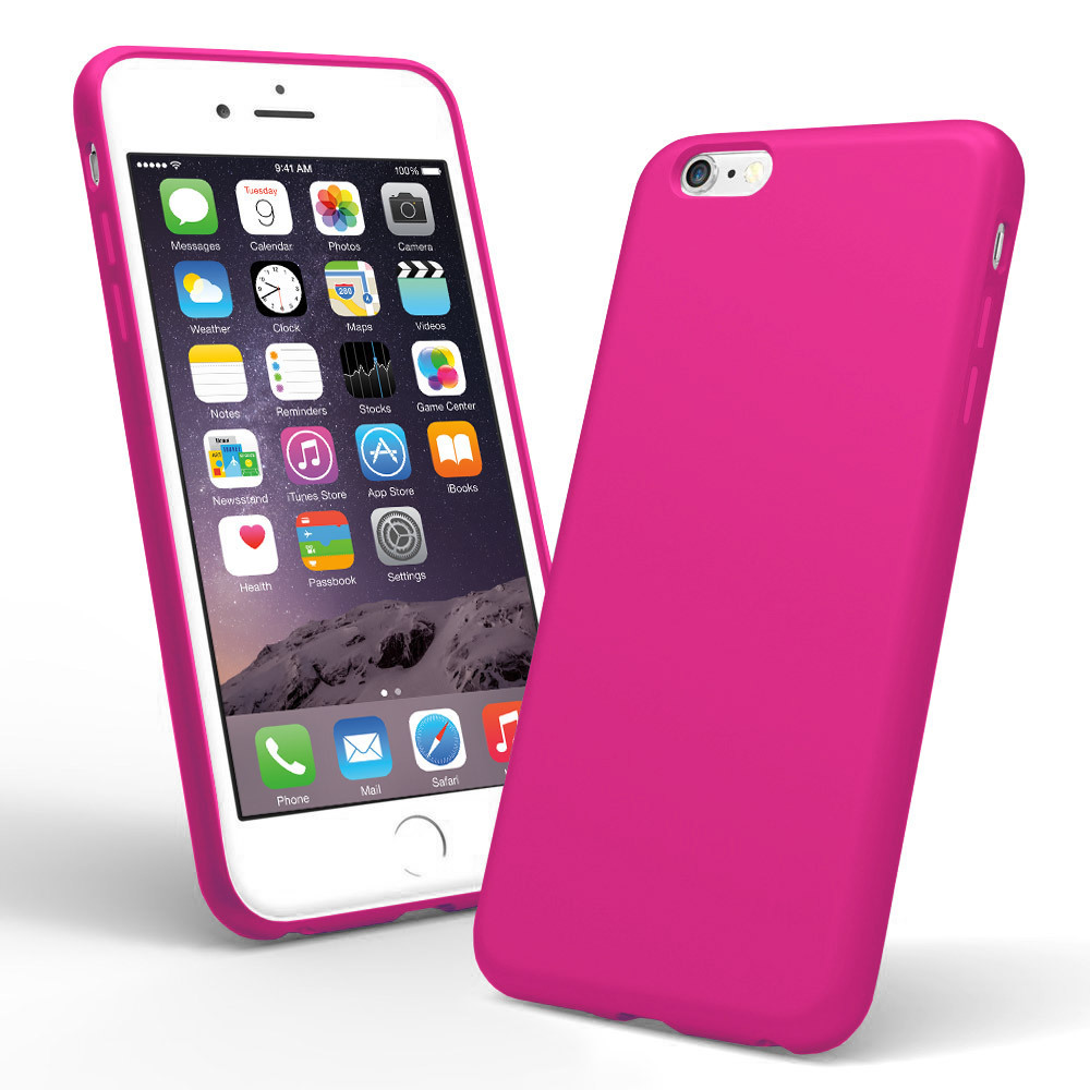 pink silicone iphone 6 case