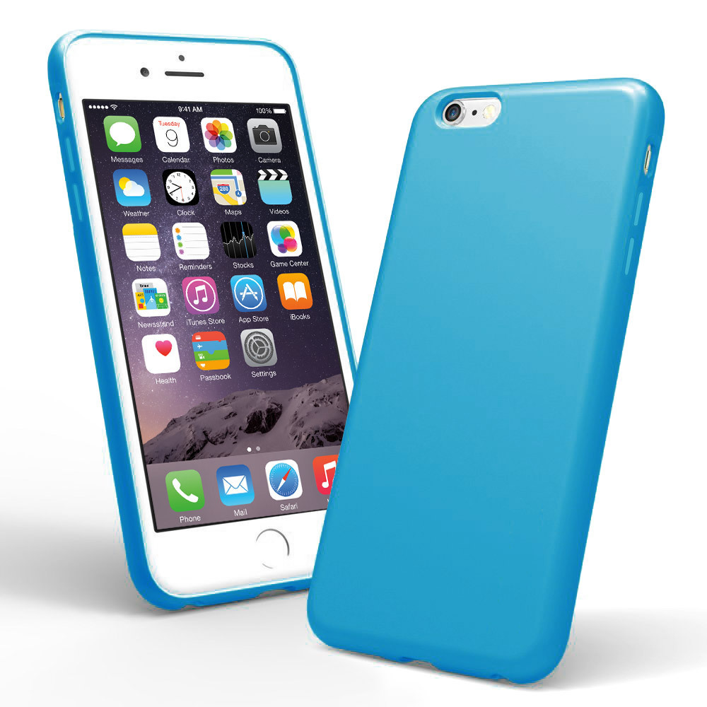 iphone 6 plus case blue silicone