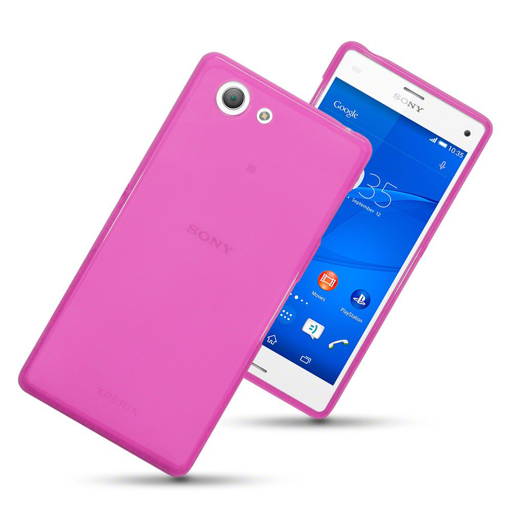 sony xperia z3 compact. Flexi Gel Case For Sony Xperia Z3 Compact - Smoke Pink (Two-Tone) L
