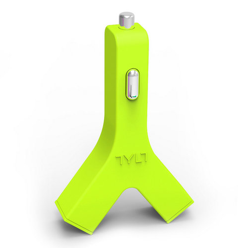 TYLT Y-Charge 4.2A Dual USB Car Charger Adapter - Green