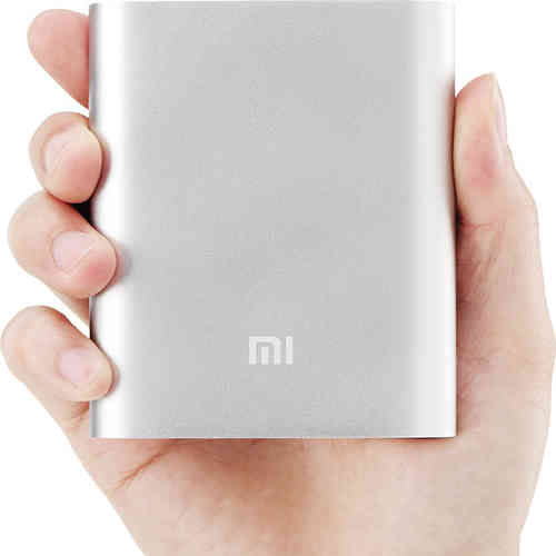 Xiaomi 10400mAh Mobile Power Bank USB Charger - Silver