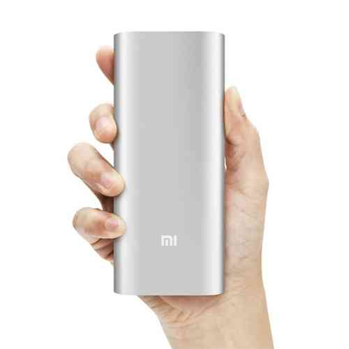 Xiaomi 16000mAh Mobile Power Bank USB Charger - Silver