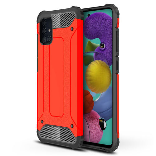 Military Defender Tough Shockproof Case for Samsung Galaxy A51 - Red