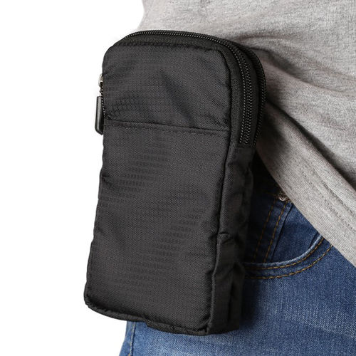 Multifunction Nylon Storage Pouch / Waist Belt Travel Case Bag for Mobile Phone