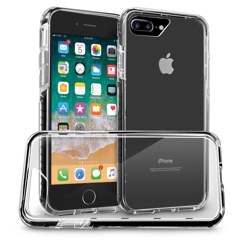 Orzly Fusion Frame Bumper Case for Apple iPhone 8 Plus / 7 Plus - Black