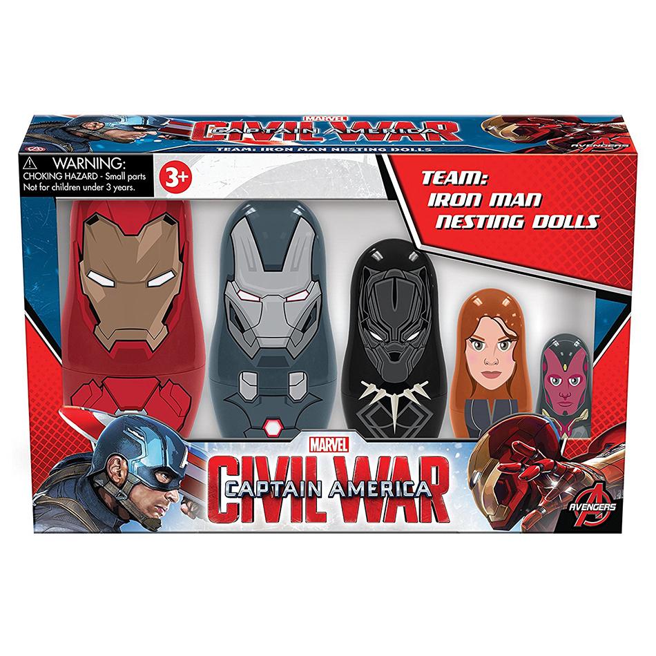 PPW Toys Team: Iron Man Nesting Doll 5-Piece Set CAPTAIN AMERICA 3 #NEW