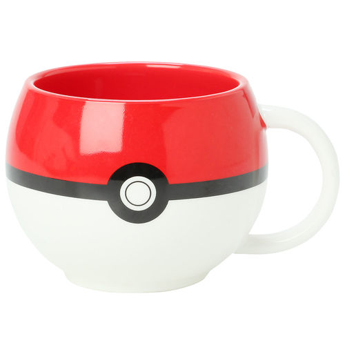 Just Funky Pokemon Go Poke Ball Figural Mug & Ceramic Coffee Cup