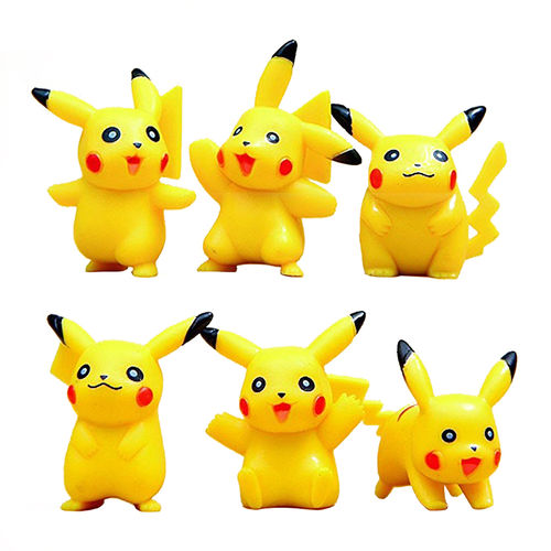 Pokemon Go Pikachu Mini Toy Action Figure Doll (6-Piece Set)