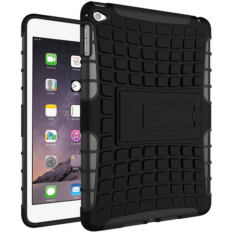 new product a93a2 213f8 Rugged Tough Shockproof Case - Apple iPad Mini 4 (Black)