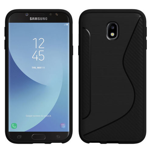 S-Line Flexi Carbon Fibre Case for Samsung Galaxy J7 Pro - Black