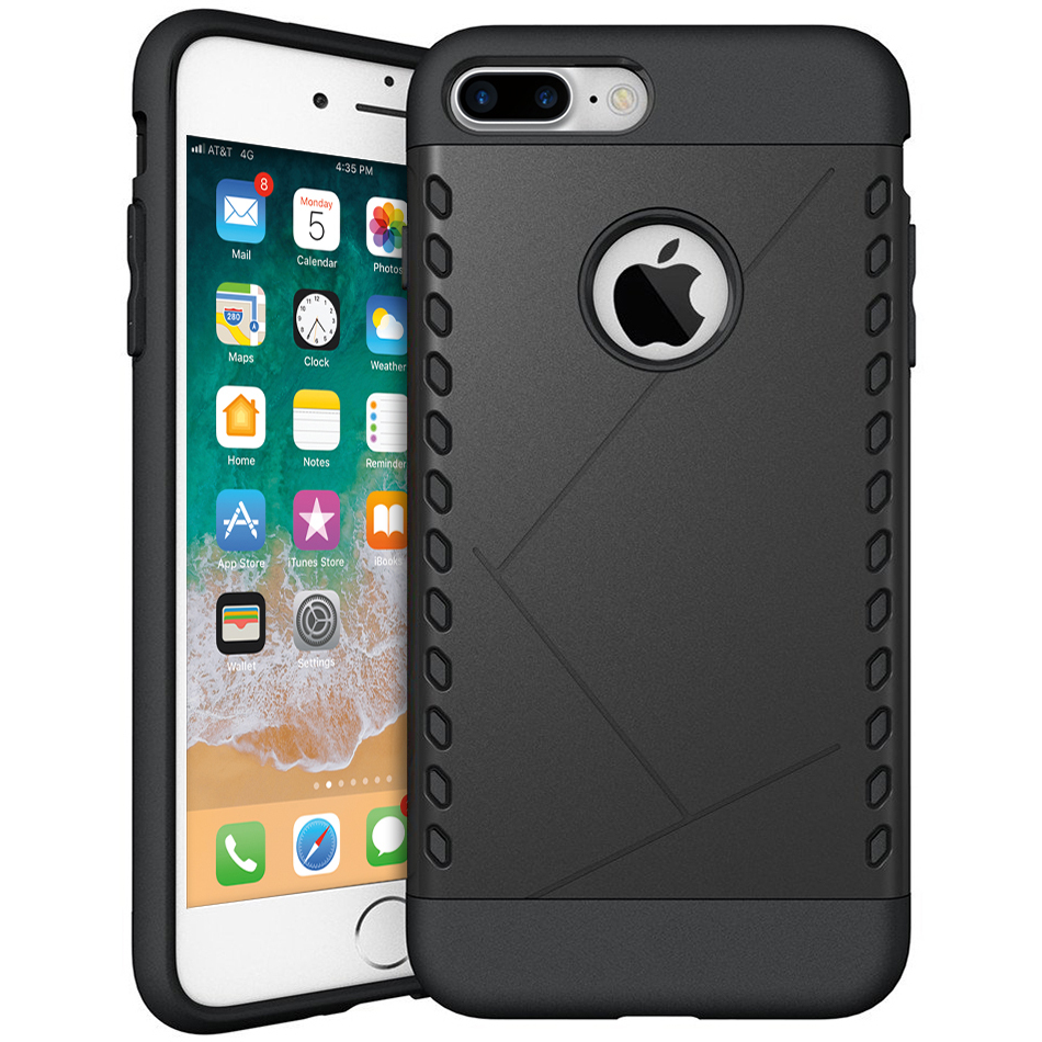 new concept 2cfdc b6b8e Extreme Heavy Duty Case - Apple iPhone 8 Plus / 7 Plus (Black)
