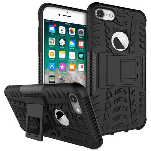 Dual Layer Hybrid Shockproof Case for Apple iPhone 8 / 7 - Black