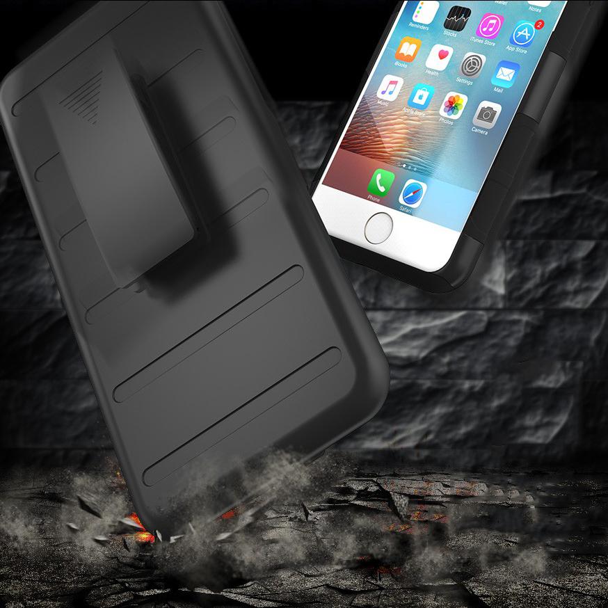 buy popular 6d465 94d43 Belt Clip Holster Case for Apple iPhone 8 Plus / 7 Plus (Black)