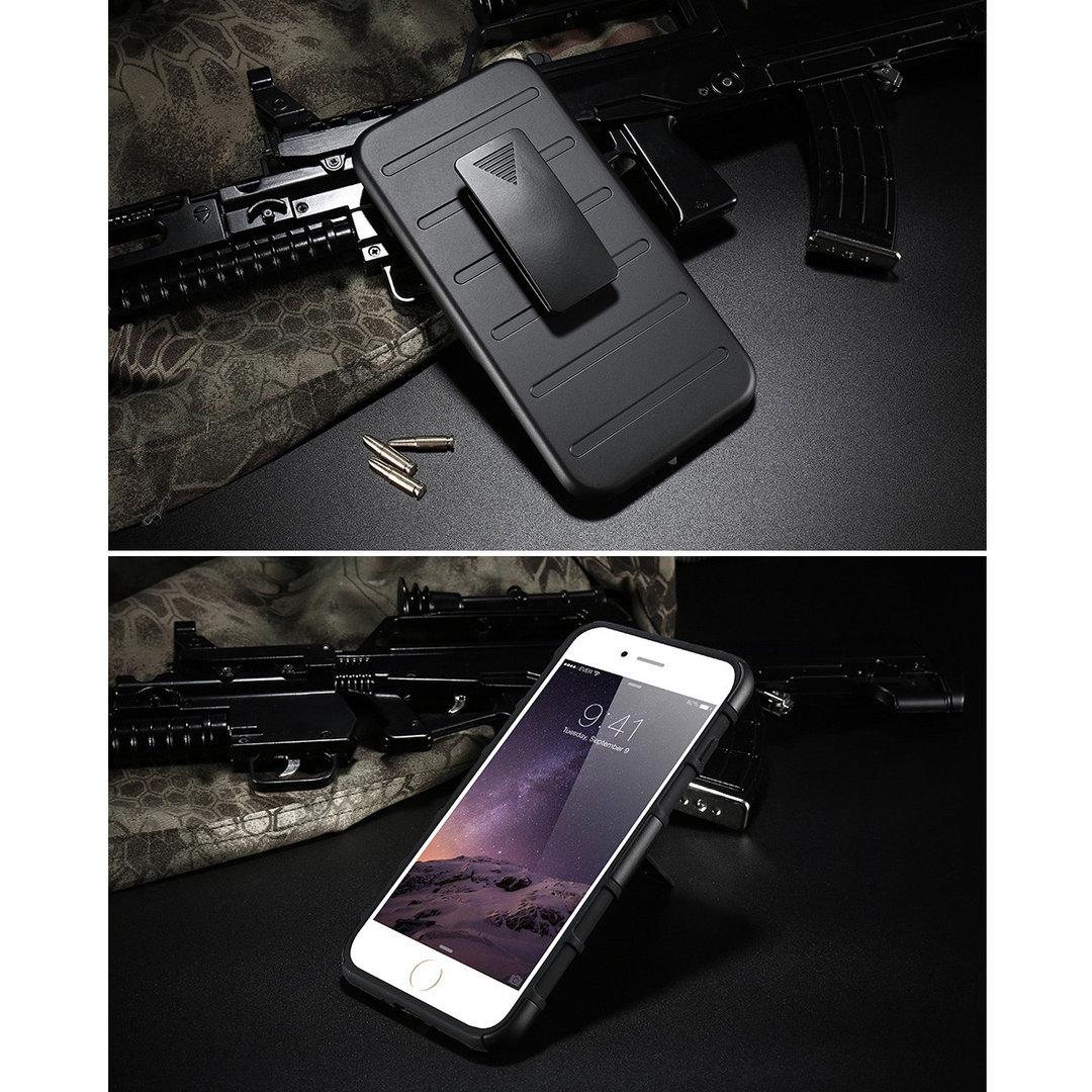 buy popular 70043 a376f Belt Clip Holster Case for Apple iPhone 8 Plus / 7 Plus (Black)
