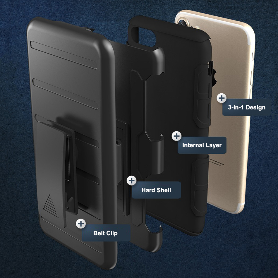 check out 6431a 6bd42 Belt Clip Holster Case for Apple iPhone 8 / 7 (Black)