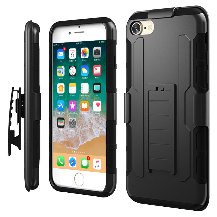 check out c167f 25d56 Belt Clip Holster Case for Apple iPhone 8 / 7 (Black)