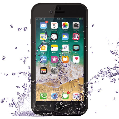 Extreme Full Fit Water Resistant Case for Apple iPhone 8 / 7 - Black