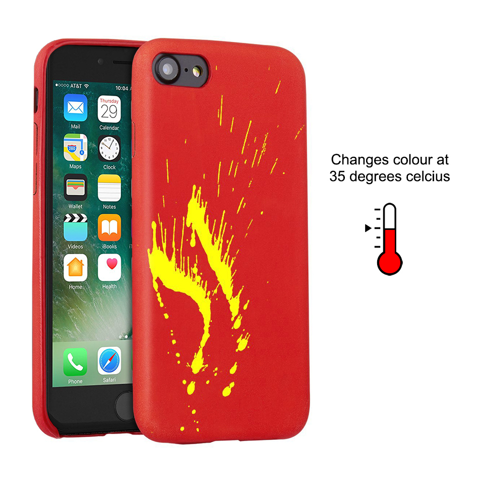sports shoes dabd2 8c068 Thermal Sensor Colour Changing Case - Apple iPhone 8 / 7 (Red)