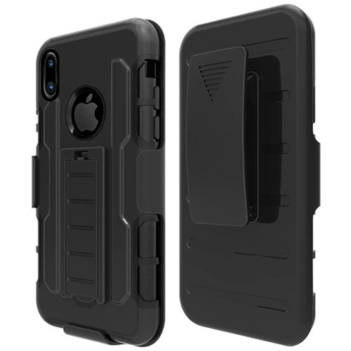 Triple Layer Shockproof Belt Clip Holster Case for Apple iPhone X / Xs