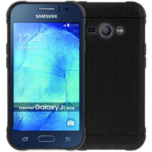 Flexi Mesh Textured Case for Samsung Galaxy J1 Ace - Black