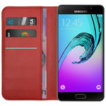 Leather Wallet Case & Card Holder for Samsung Galaxy A5 (2016) - Red