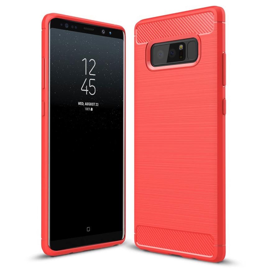 on sale a64fc edfb9 Flexi Carbon Fibre Tough Case - Samsung Galaxy Note 8 (Red)
