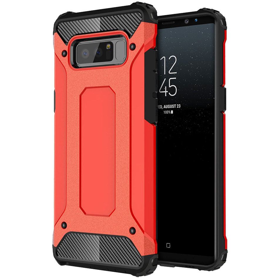 new style 4df1c 60bd7 Defender Shockproof Case - Samsung Galaxy Note 8 (Red)