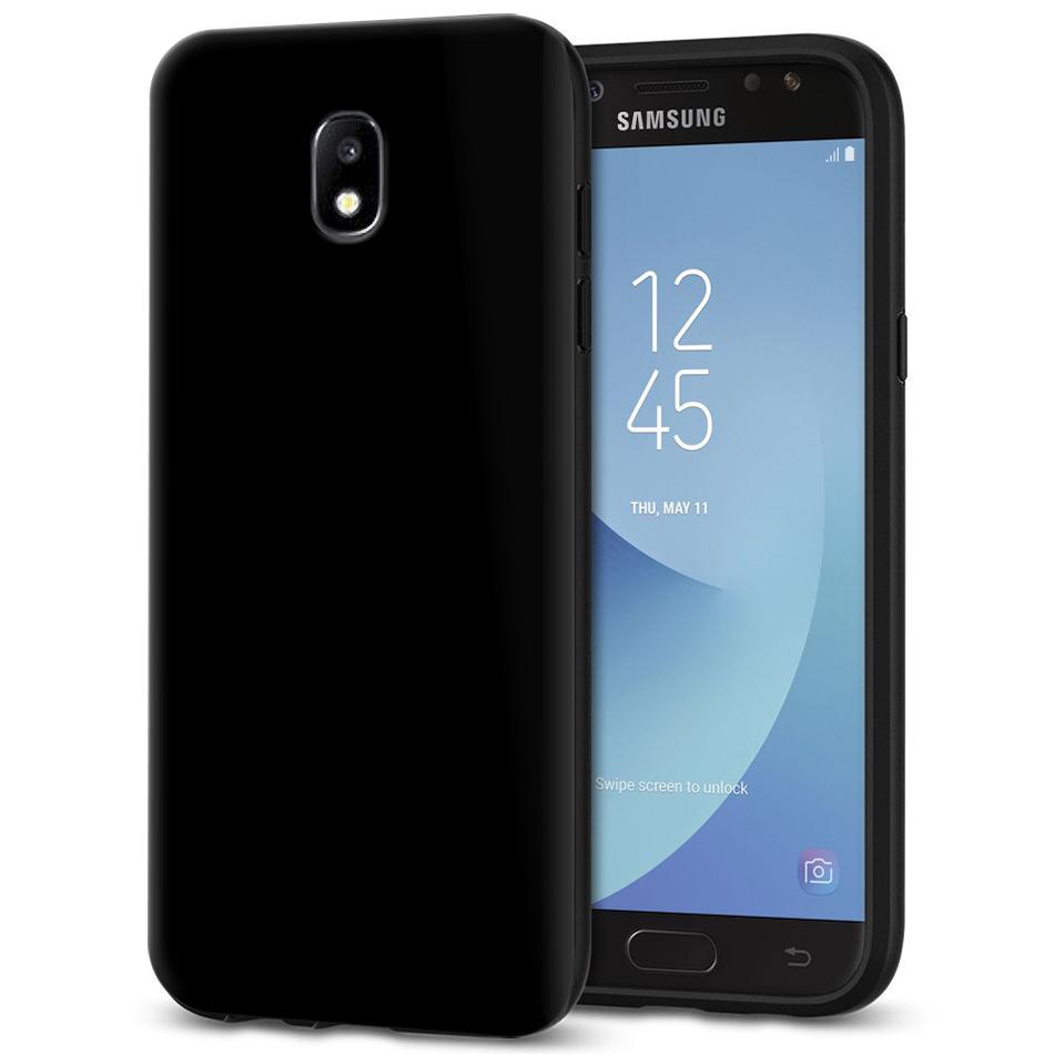 new product ef34a af241 Flexi Slim Gel Case for Samsung Galaxy J5 Pro - Black (Gloss Grip)