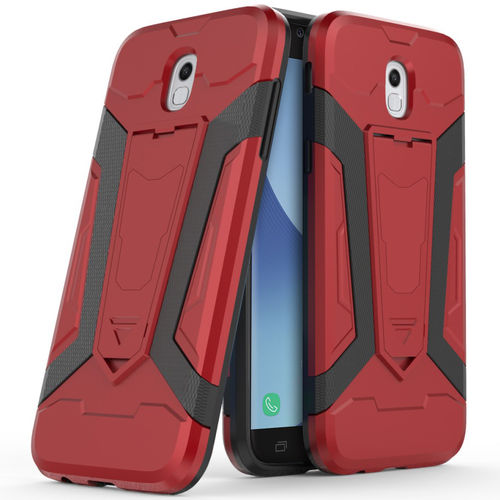 Slim Guard Plated Shockproof Case for Samsung Galaxy J5 Pro - Red