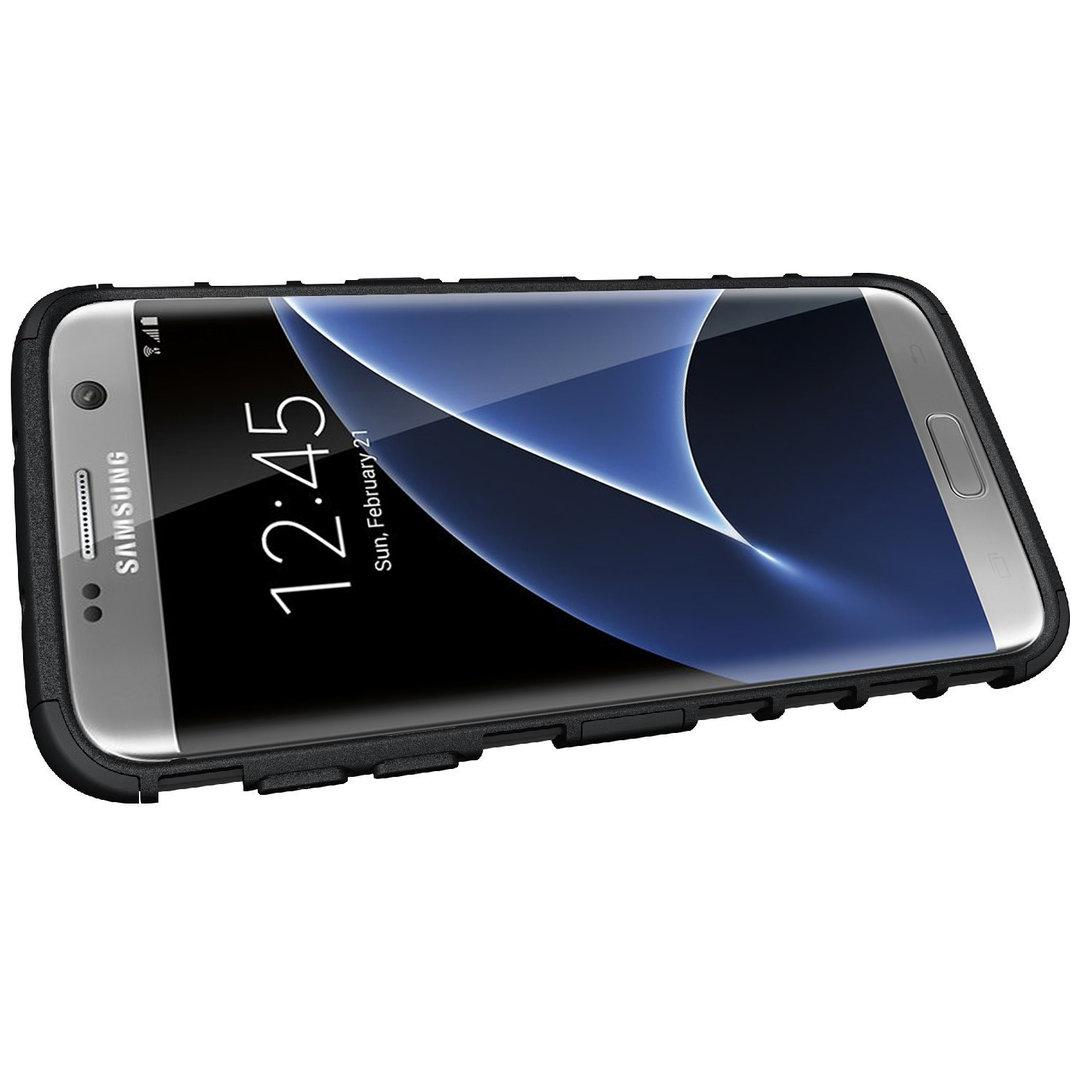 Rugged Tough Armour Case Samsung Galaxy S7 Edge Black
