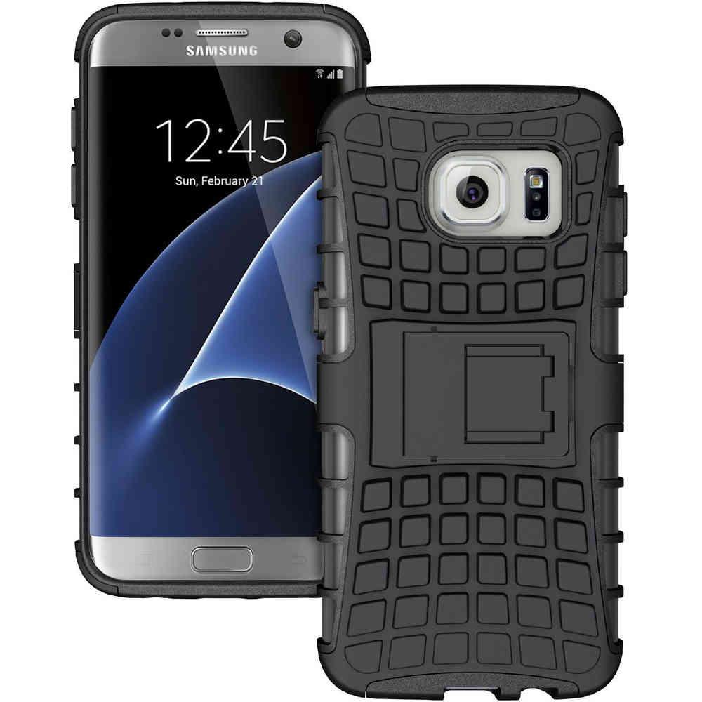 new concept 89001 97c07 Rugged Tough Armour Case - Samsung Galaxy S7 Edge (Black)
