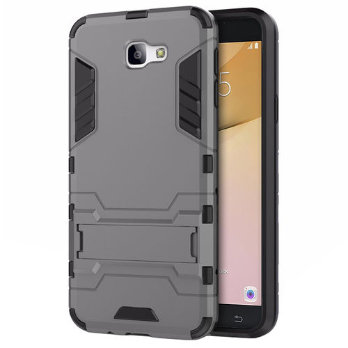 Slim Armour Tough Shockproof Case for Samsung Galaxy J7 Prime - Grey