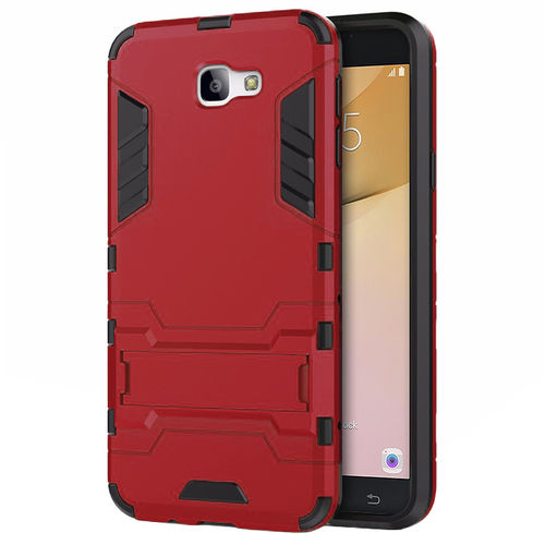 Slim Armour Tough Shockproof Case for Samsung Galaxy J7 Prime - Red