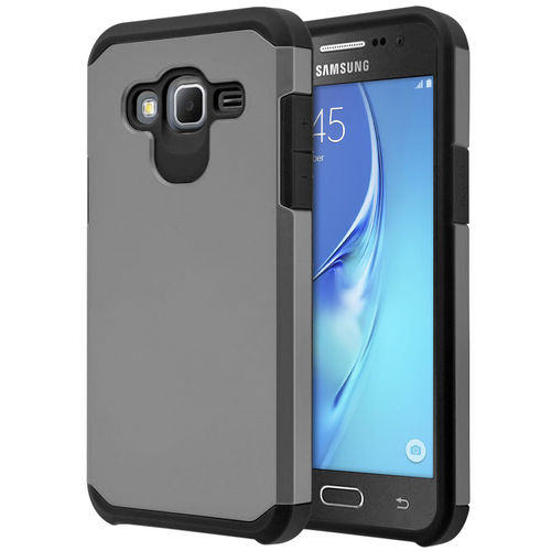 Hybrid Guard Protective Tough Case - Samsung Galaxy J3 (2016) - Grey